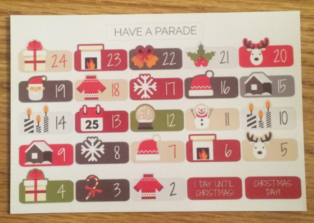 Christmas Countdown Stickers by Have a Parade