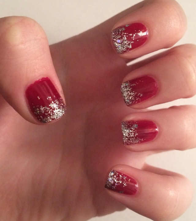Red Glitter Fade Nail Art Tutorial The Rebel Planner