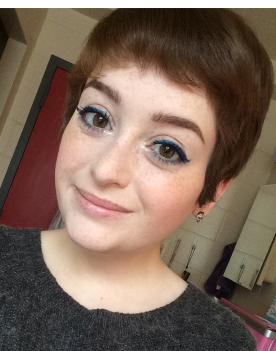 Blue and Purple Eyeliner