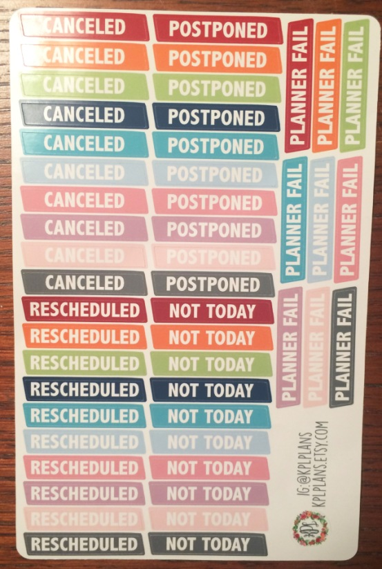 Cancelled Stickers