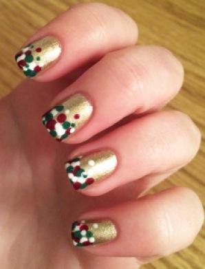 Christmas Dotticure Nail Art