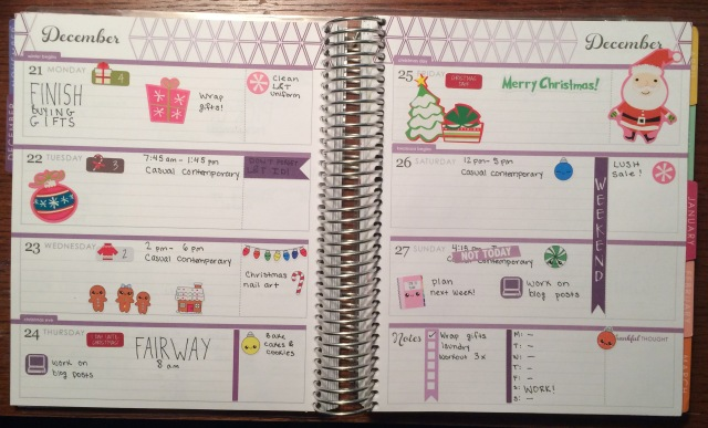Erin Condren Life Planner Horizontal Full Spread.