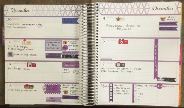 Erin Condren Life Planner Horizontal Spread