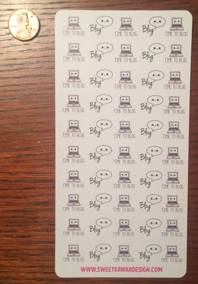 Itty Bitty Blog stickers