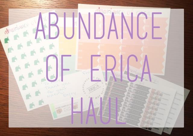 abundance of erica haul