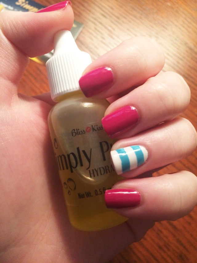 Bliss Kiss Simply Pure Nail Oil review