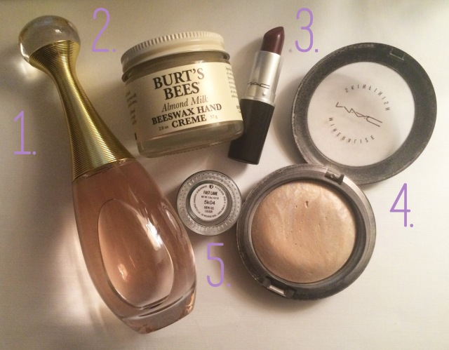 January Favorites numbered